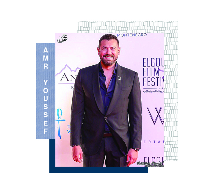 Amr Youssed rocking our crescent lapel pin in the Gouna Film Festival